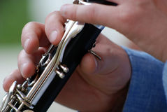 Playing clarinet Stock Photography