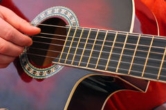 Playing the classical guitar Stock Photos