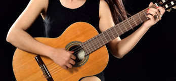 Playing Classical Guitar Stock Photos