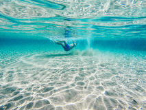 Playing in clear blue water Royalty Free Stock Images