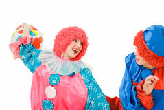 Playing clowns Stock Photography