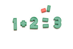 Playing with colored numbers Stock Photography