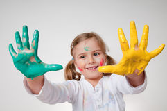 Playing with colors Royalty Free Stock Photos