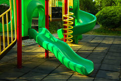 Playing complex for children in public park Royalty Free Stock Image