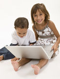 Playing on the Computer Stock Photography