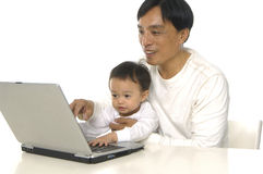 Playing computer Royalty Free Stock Photo