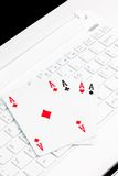 Playing computer games Royalty Free Stock Photography