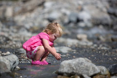Playing in the Creek Royalty Free Stock Photography