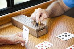 Playing Cribbage Royalty Free Stock Photos