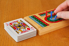 Playing Cribbage Stock Photography