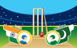 Playing cricket team sports poster. Illustration of team playing cricket sports poster design Vector royalty free illustration