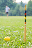 Playing croquet II Royalty Free Stock Image