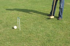 Playing croquet Stock Photo