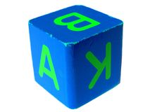 Playing cube Stock Images