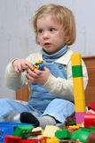 Playing with cube blocks Stock Photos