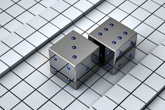Playing cubes Royalty Free Stock Images