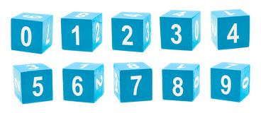 Playing cubes with a numbers Royalty Free Stock Photos