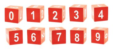 Playing cubes with a numbers Royalty Free Stock Image