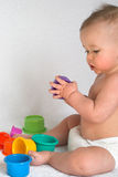 Playing with Cups Stock Photos