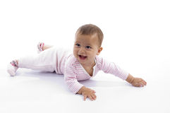 Playing cute little baby stock photos