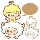 Playing cute little Sheep Angel. Stock Images