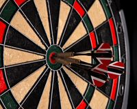 Playing darts Royalty Free Stock Image