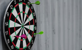 Playing darts three darts Royalty Free Stock Photography