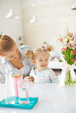 Playing with daughter Royalty Free Stock Photography