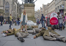 Playing Dead at the Edinburgh Festival Fringe Royalty Free Stock Images