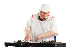 Playing deejay Stock Image