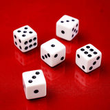 Playing dice Royalty Free Stock Photo