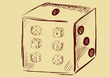 Playing dice Royalty Free Stock Images
