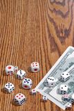 Playing dice and money Royalty Free Stock Photo