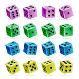 Playing Dice Vector Set. 3d Realistic Cubes With Dot Numbers. Good For Playing Board Casino Game. Isolated On White. Set Of Dice R. Playing Dice Vector Set. 3d Stock Photos