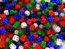 Playing dices vector illustration