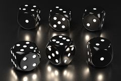 Playing dices. 3d rendering of playing dices Stock Image