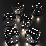 Playing dices. 3d rendering of playing dices Royalty Free Stock Photography