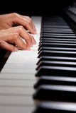 Playing digital hybrid piano Royalty Free Stock Photos