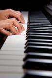 Playing digital hybrid piano Royalty Free Stock Photos