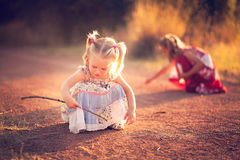 Playing in the dirt Royalty Free Stock Images