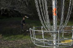Playing Disc Golf 2 Royalty Free Stock Images