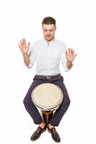 Playing the Djembe Stock Image