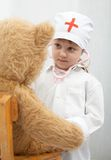 Playing a doctor Stock Images