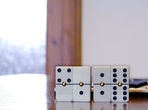Playing dominoes Stock Photos