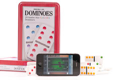 Playing Dominoes Royalty Free Stock Photo