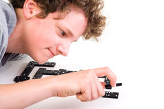 Playing dominoes Royalty Free Stock Photography