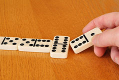 Playing Dominoes Stock Images