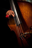 Playing double bass Stock Photography