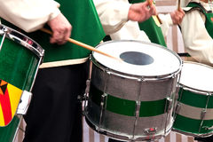 Playing on a drum. Stock Image