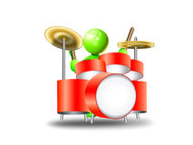 Playing a drum Royalty Free Stock Image